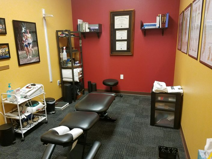 Photo of Dr. Dahl's treatment room at Apollo Chiropractic