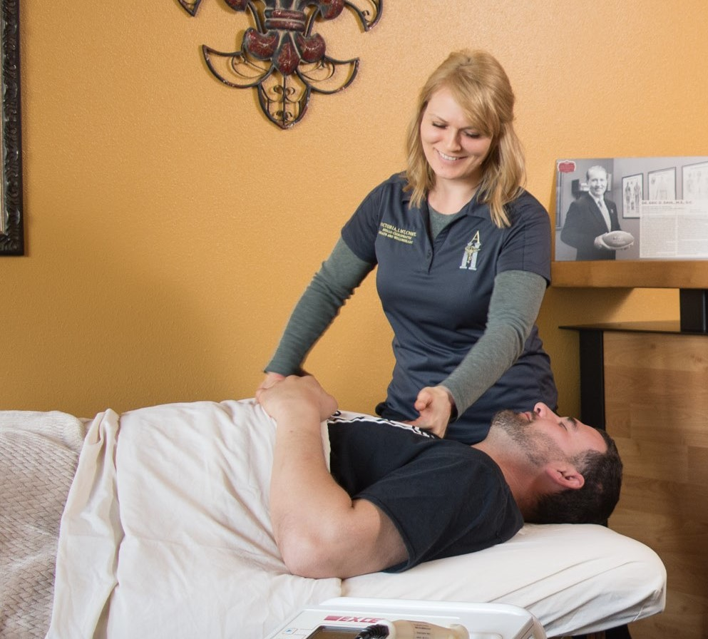 Photo showing a massage therapy session