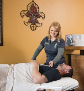 Photo of a massage therapy session