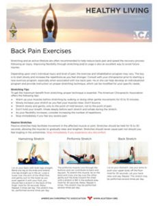 Click to download the Back Pain Exercises PDF