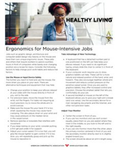 Click to download the Ergonomics for Mouse-Intensive Jobs PDF