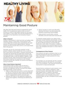 Click to download the Maintaining Good Posture PDF