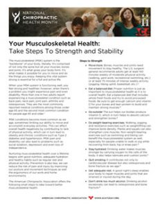 Click to download the Your Musculoskeletal Health PDF