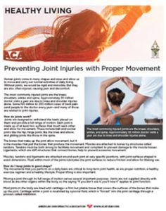 Click to download the Preventing Joint Injuries with Proper Movement PDF