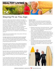Click to download the Staying Fit as You Age PDF