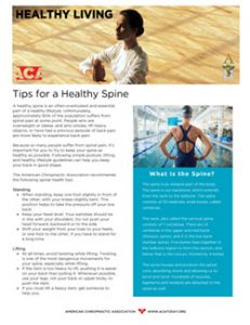 Click to download the Tips for a Healthy Spine PDF