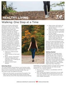 Click to download the Walking: One Step at a Time PDF