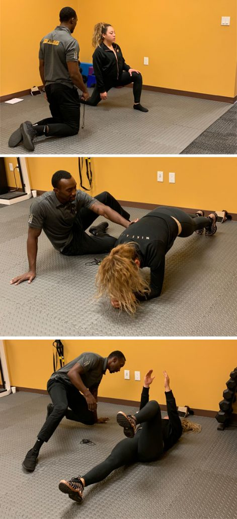 Photo of Robert Wilder giving a personal training session