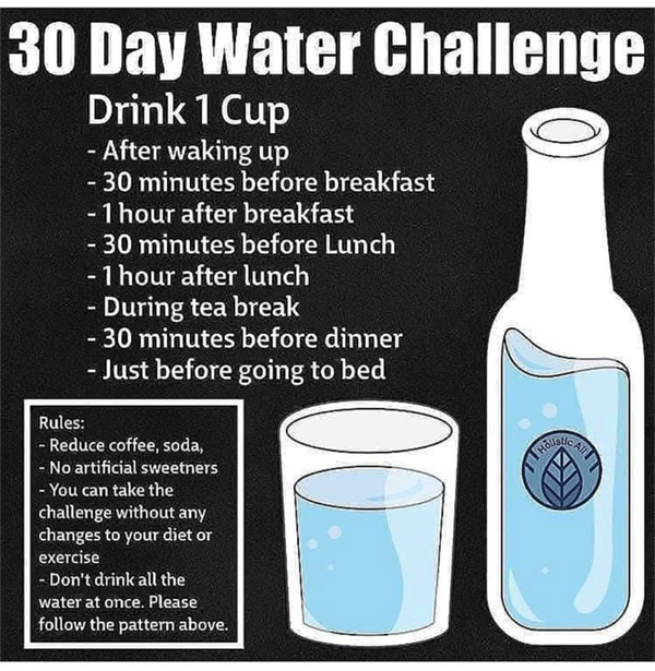 30 Day Water Challenge rules