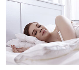 Photo of a woman sleeping soundly